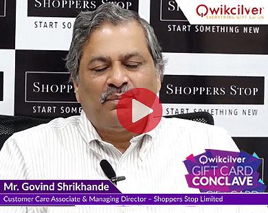 Mr. Govind Shrikhande at Qwikcilver Gift Card Conclave 2017