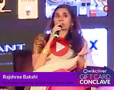 Ms. Rajshree Bakshi, Taj Hotels Palaces Resorts Safaris at the QCGC17