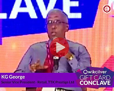 Mr. KG George, TTK Prestige Ltd at the QCGC17