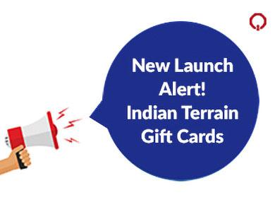 Launch Alert! Indian Terrain Gift Cards