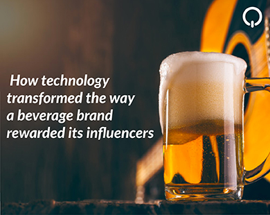 How technology transformed the way a beverage brand rewarded its influencers
